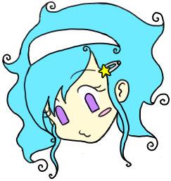 Swirly hair by bleedmylove