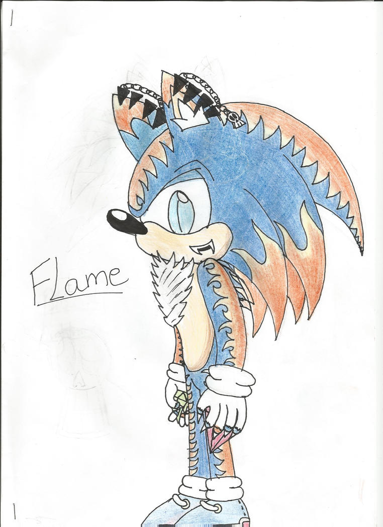 Flame The Vampire Hedgehog by Megabitron