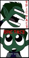 Beast Boy epic face