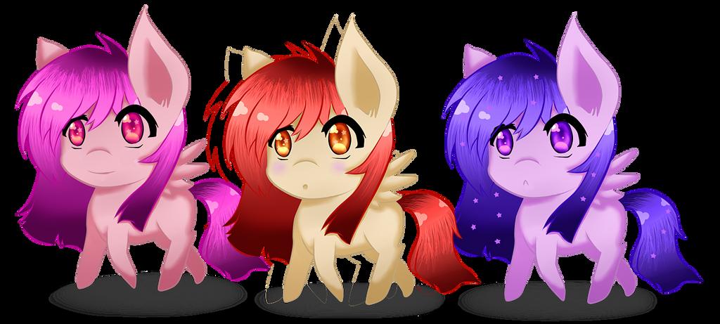 Pony Adoptables by Shiningstarlight14