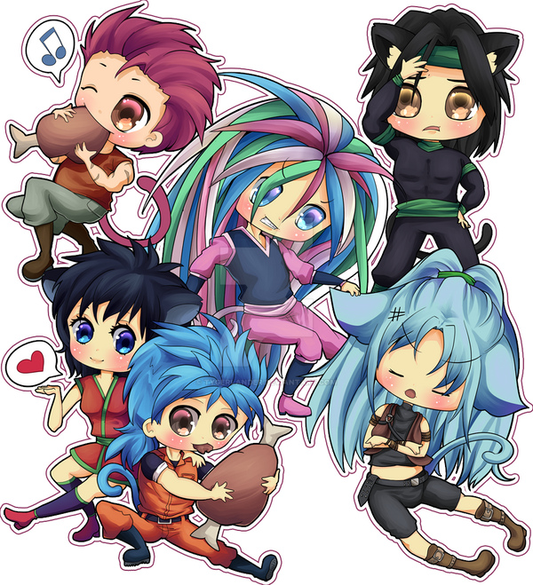 Toriko Neko Chibi Mob (by X--lalla--x) By Tygerlander On