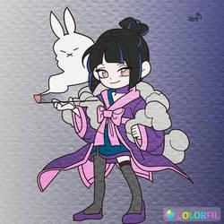 Katrina as Yuuko by Tygerlander