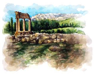 Sicily Ruins by meganrenae-art