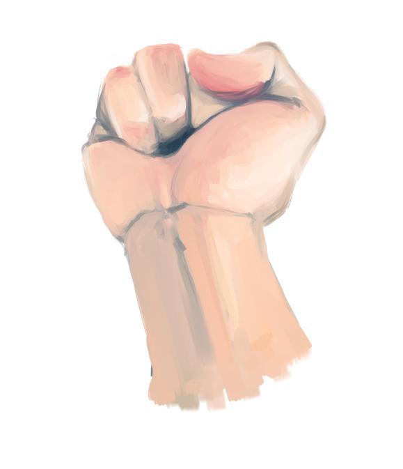 Hand study 1 by ninjaachemist