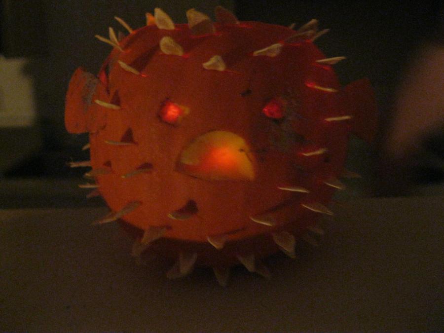 Blow fish pumpkin by eirianna on deviantart