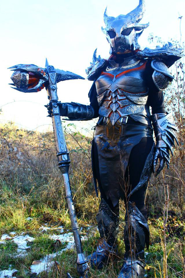 Skyrim Daedric Female Armor by NinjaForge on DeviantArt