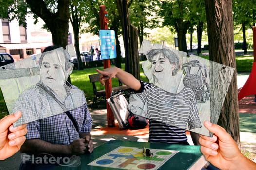 Yo y mi Padre en Foto Dibujo