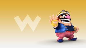 Wario (Ware) Wallpaper [Smash 3]