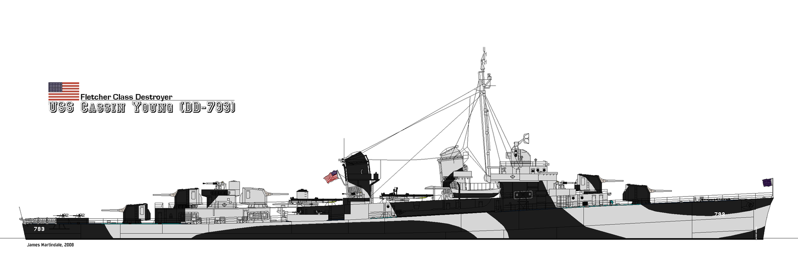 Fletcher Class Destroyer by PhantomofTheRuhr