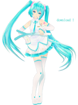 TDA White Miku DL!