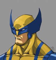 Wolverine Headshot by Chadwick-J-Coleman