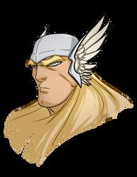 Thor Head by Chadwick-J-Coleman
