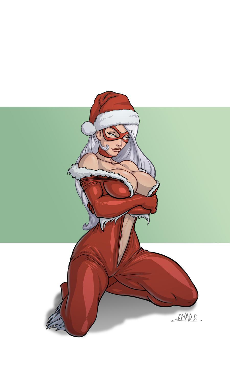 Santa Hat Cat by Chadwick-J-Coleman