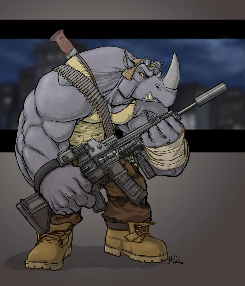 Rocksteady: TMNT by Chadwick-J-Coleman