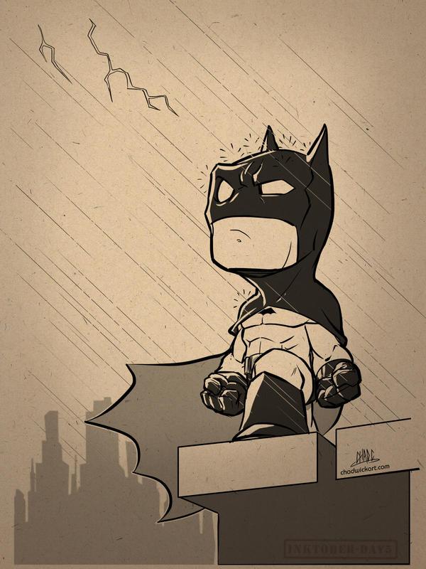 Inktober-#05-Chibi Bats by Chadwick-J-Coleman