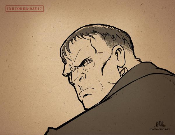 Inktober-#17-Frankenstein Monster by Chadwick-J-Coleman