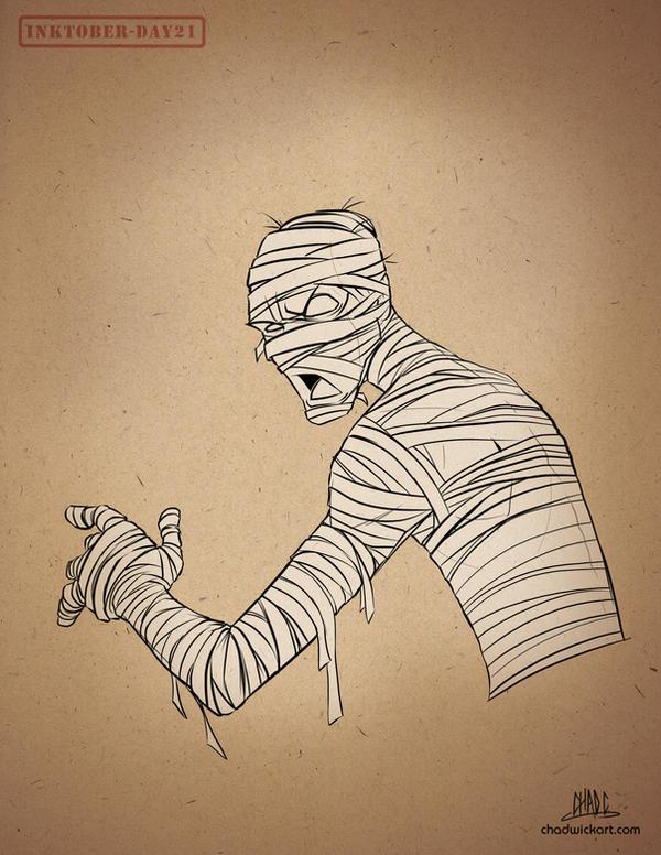 Inktober-#21-Mummy by Chadwick-J-Coleman