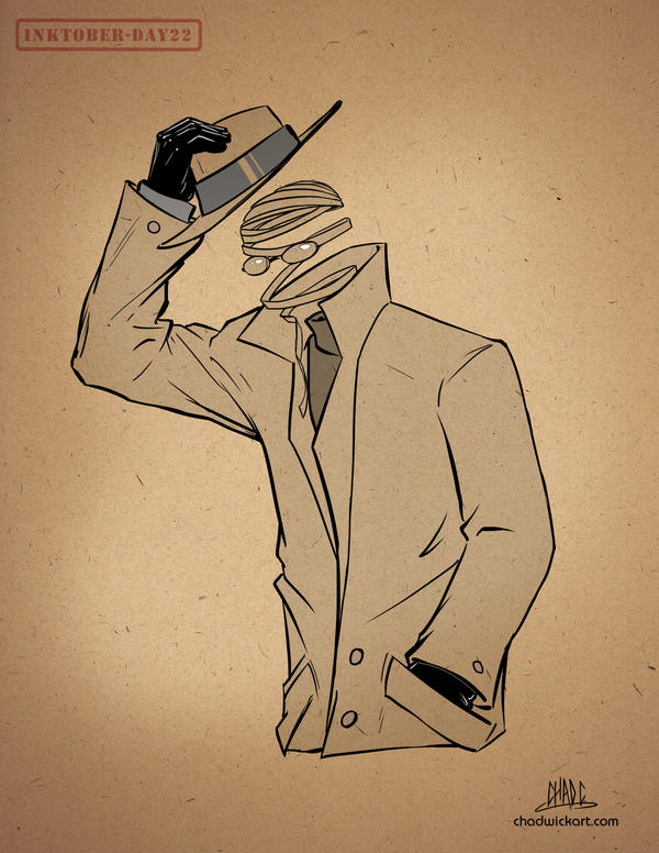 Inktober-#22-Invisible Man by Chadwick-J-Coleman