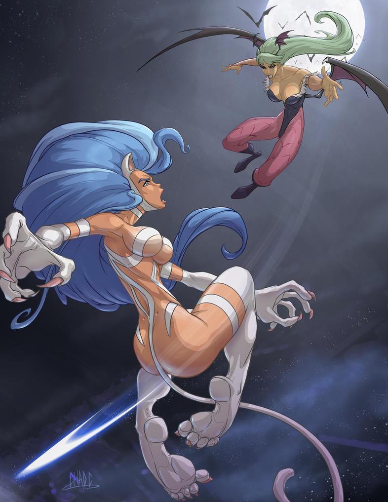 Capcom Fighting Tribute Cat-vs-Bat by Chadwick-J-Coleman