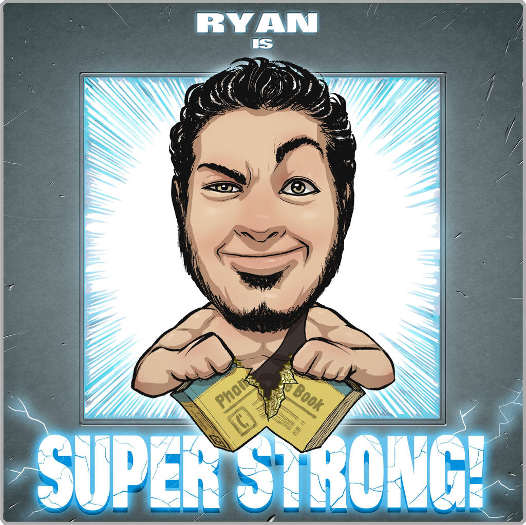 Ryan is super strong logo by Chadwick-J-Coleman