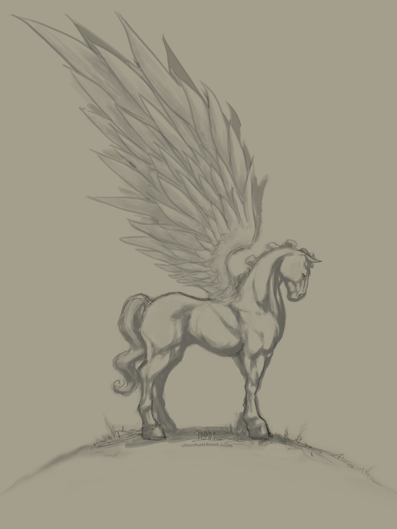Pegasus Paint WIP 01 by Chadwick-J-Coleman