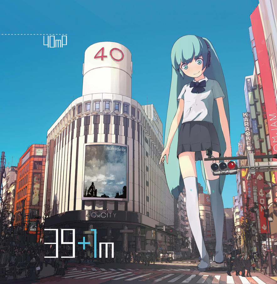 Miku-Hatsune,40meters. by guitars-japan