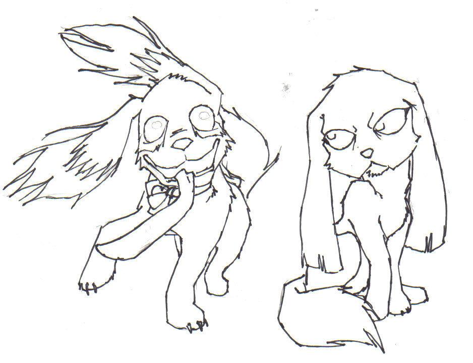 Odie and Maggie by Mitsuko-Mitsukai
