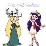 Star and Festivia Butterfly