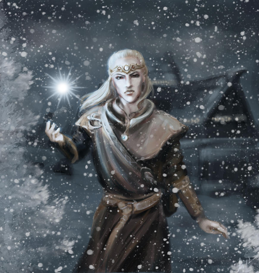 The star of the Winterhold by Aihito