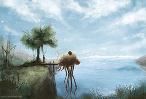 Seyda Neen: Silt Strider Harbour View by Aihito