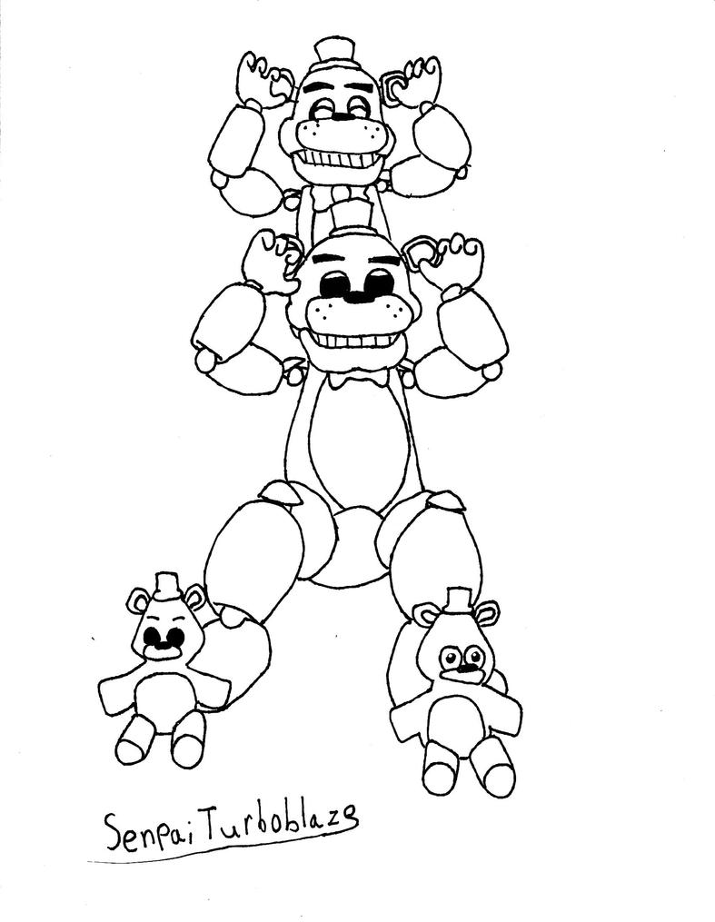 five nights at freddys charity line art by senpaiturboblaze - Five Nights At Freddys Coloring Book