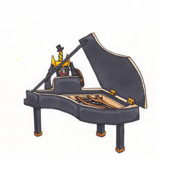 Aegislash on the Grand Piano - Charity Collab