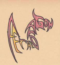 Feral Dragon Word Art