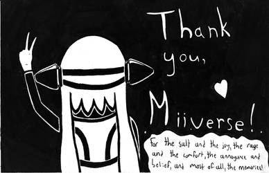 Thank You and Goodbye, Miiverse