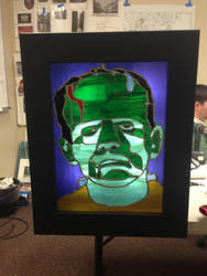 Frankenstained with Lights on and backlit