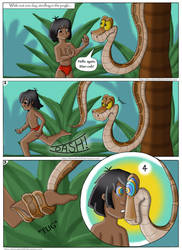 Mowgli and Kaa vore comic commission page 1