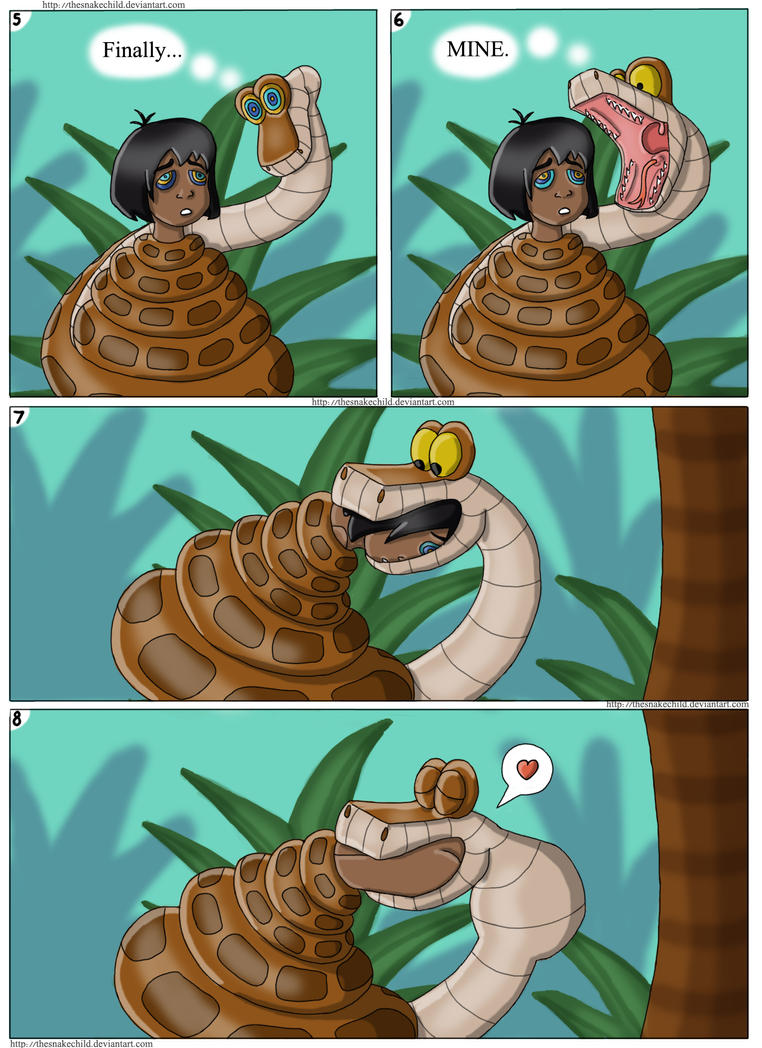 Mowgli and Kaa vore comic commission page 2 by thesnakechild