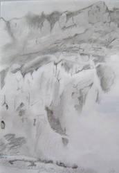 Paroi rocheuse, Sainte Enimie by darkBabette