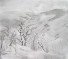 Paysage des Cevennes by darkBabette