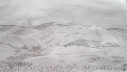 Landscape in the Cevennes by darkBabette