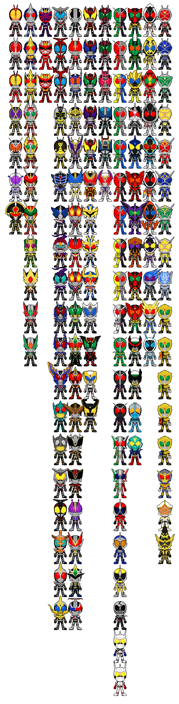 All Kamen Riders Pixel Art (WIP) by Miralupa