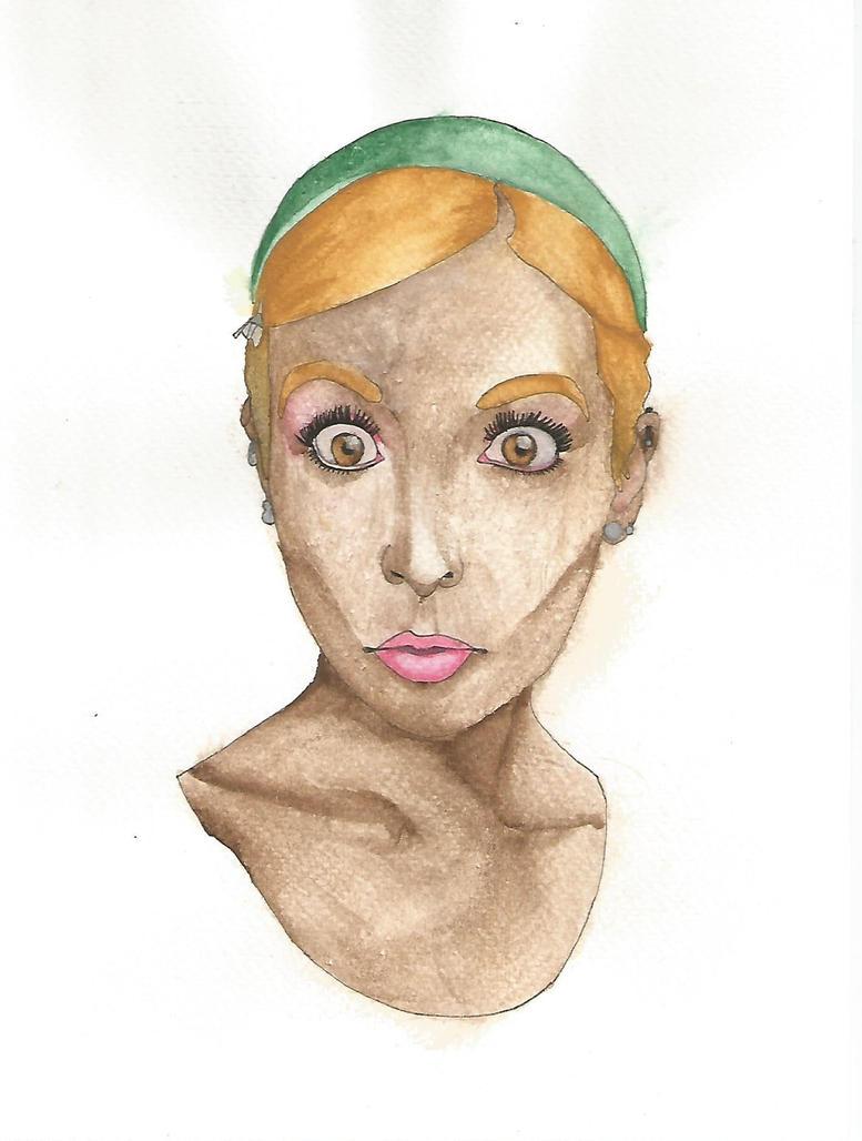 Watercolors portrait 2 by Yami19
