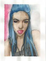 Watercolors portrait 3 by Yami19