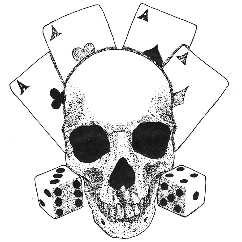 Прикольные рисунки черепов на руку