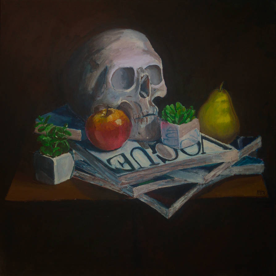 Still life with skull and other things by Yami19