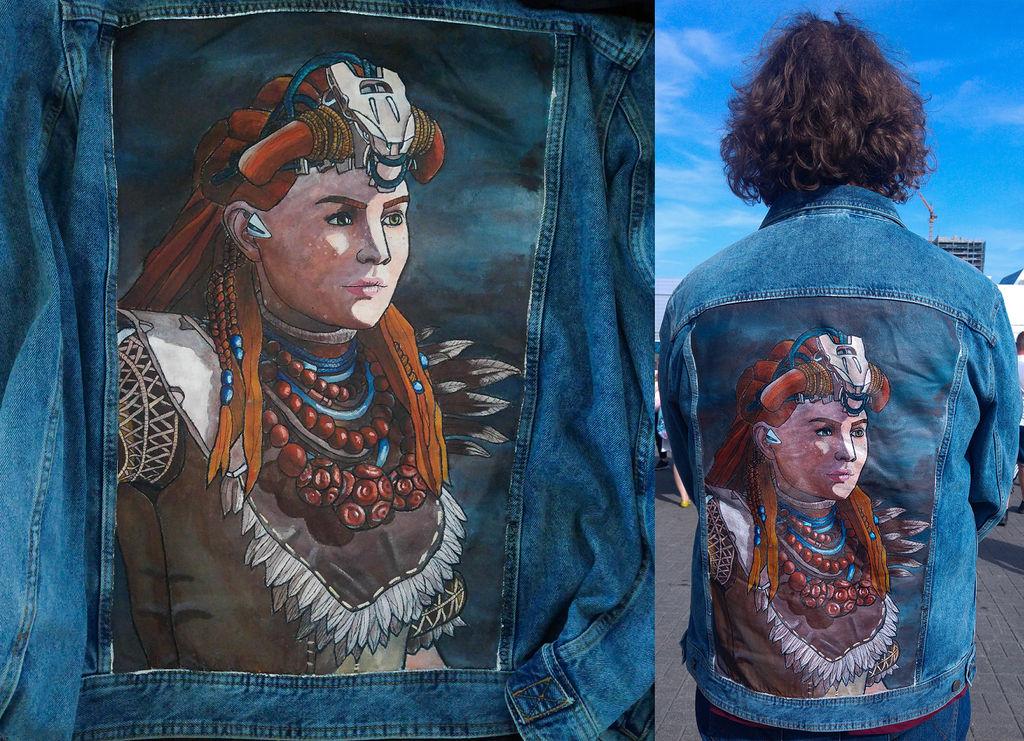 Aloy on jeans jacket by Yami19