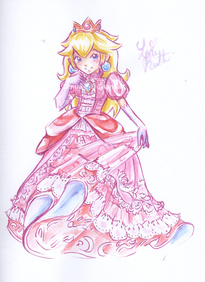 Princess Peach by LemiaCrescent
