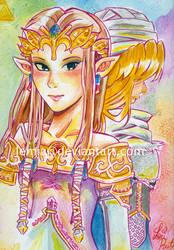 Zelda and Sheik by LemiaCrescent