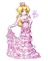 Party Dress Peach by LemiaCrescent