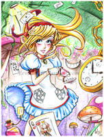 Alice in Wonderland by LemiaCrescent